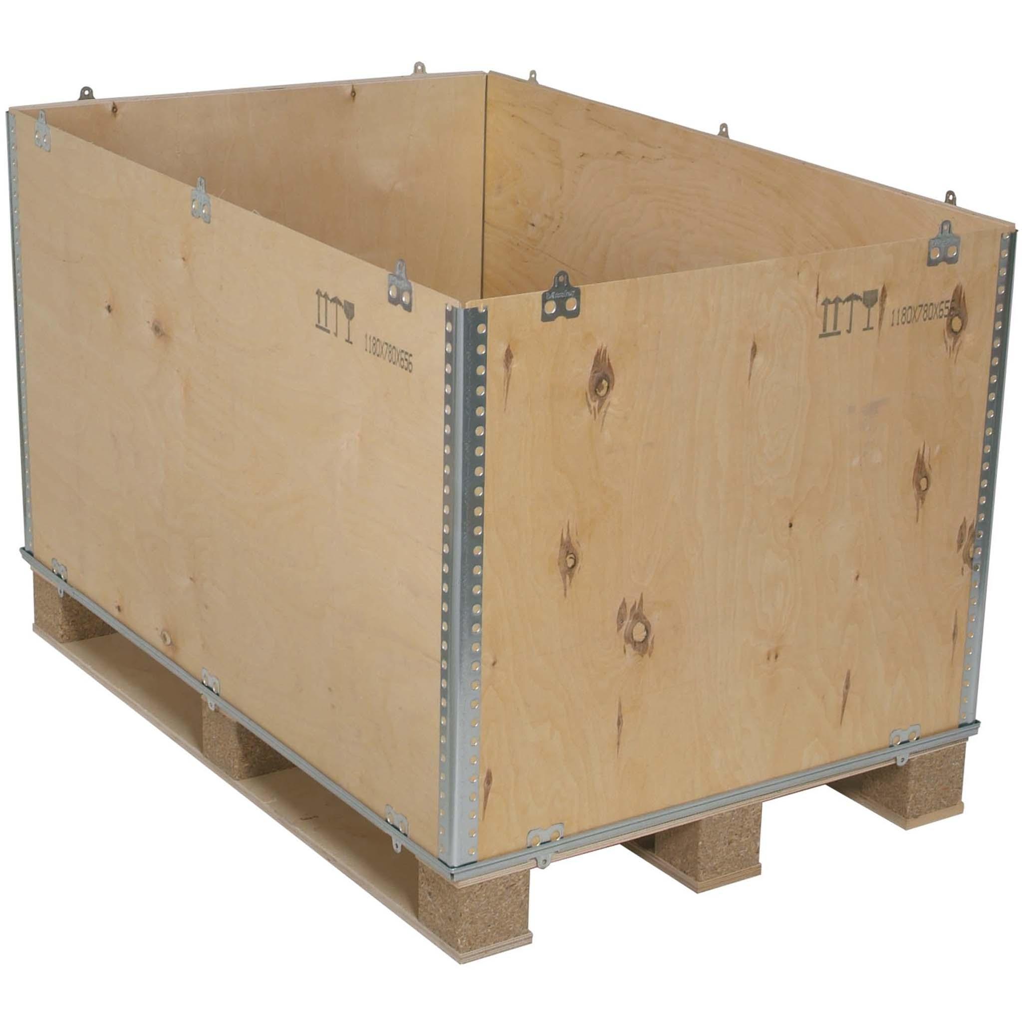 Cargo Boxen | 600 X 400 mm | mit Palettenunterbau Innenmaß 590 x 390 x 260 mm