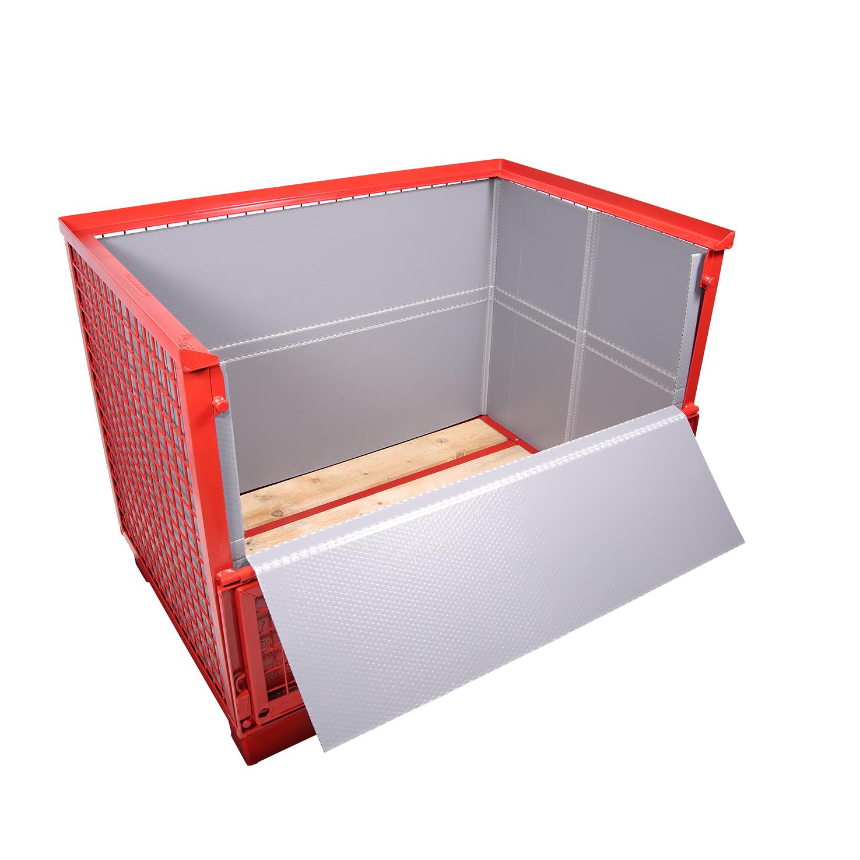 CON-PEARL® Auskleidung für EPAL-Gitterbox mit Ladeklappe