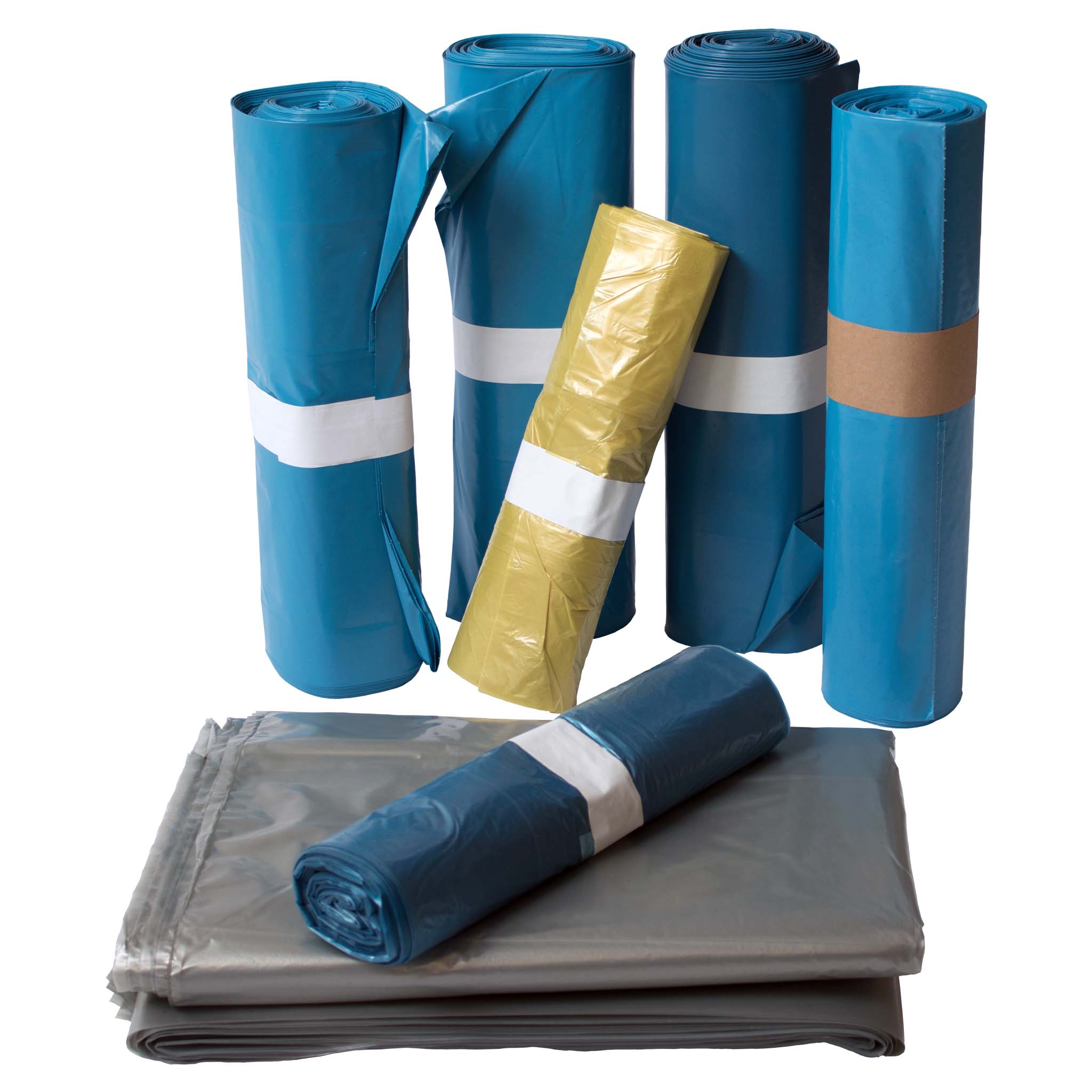 LDPE Müllsack Farbe transluzent blau perforiert