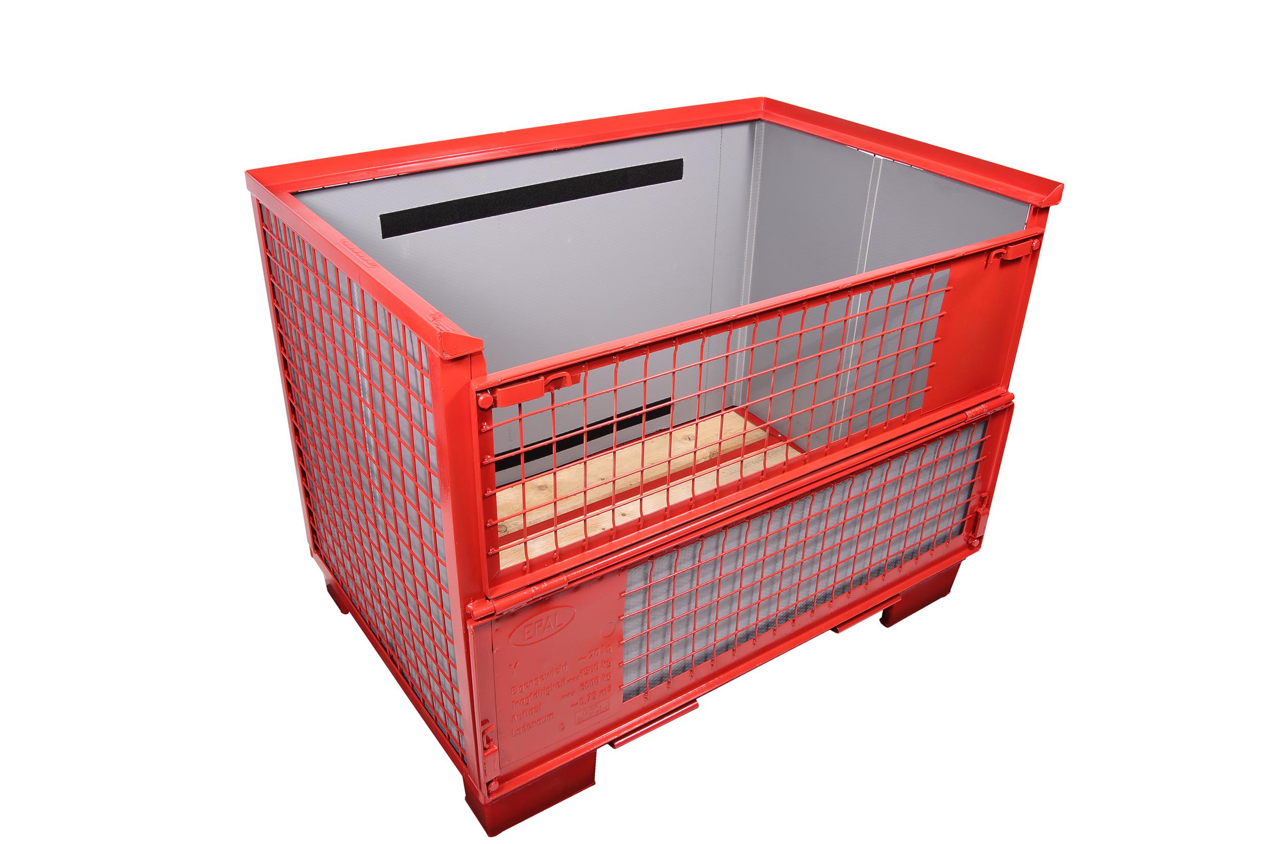 CON-PEARL® Auskleidung für EPAL-Gitterbox ohne Ladeklappe