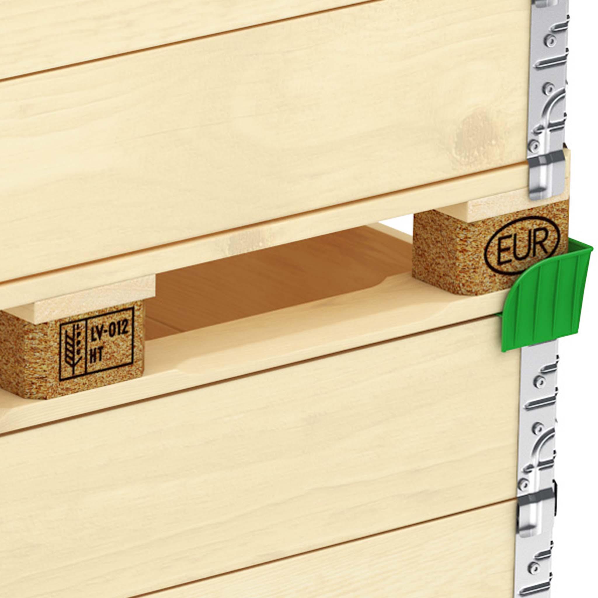 Stapelecken für Holzaufsatzrahmen
