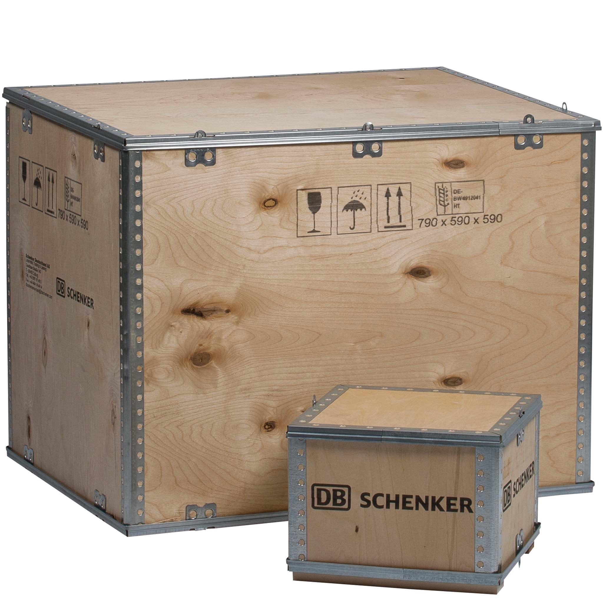 Cargo Boxen | 600 X 400 mm | ohne Palettenunterbau Innenmaß 590 x 390 x 260 mm