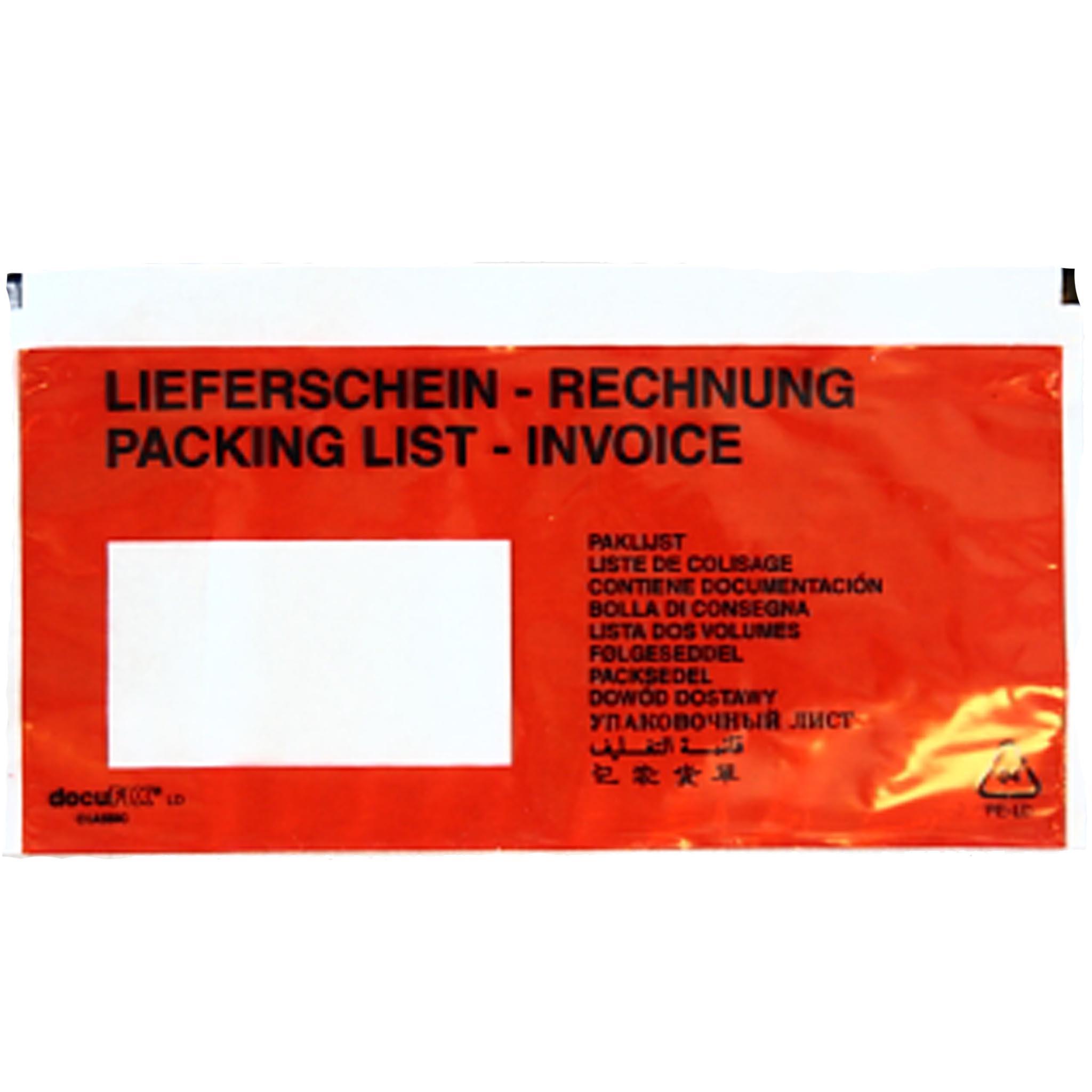 Begleitpapiertasche Format DIN C - lang