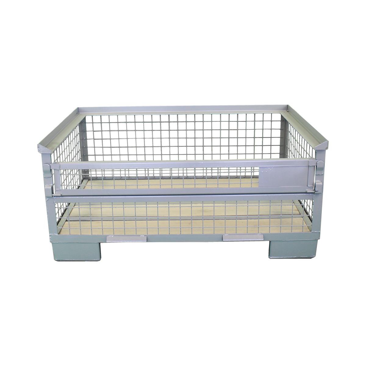 Halbhohe Industriegitterboxpalette 570 mm