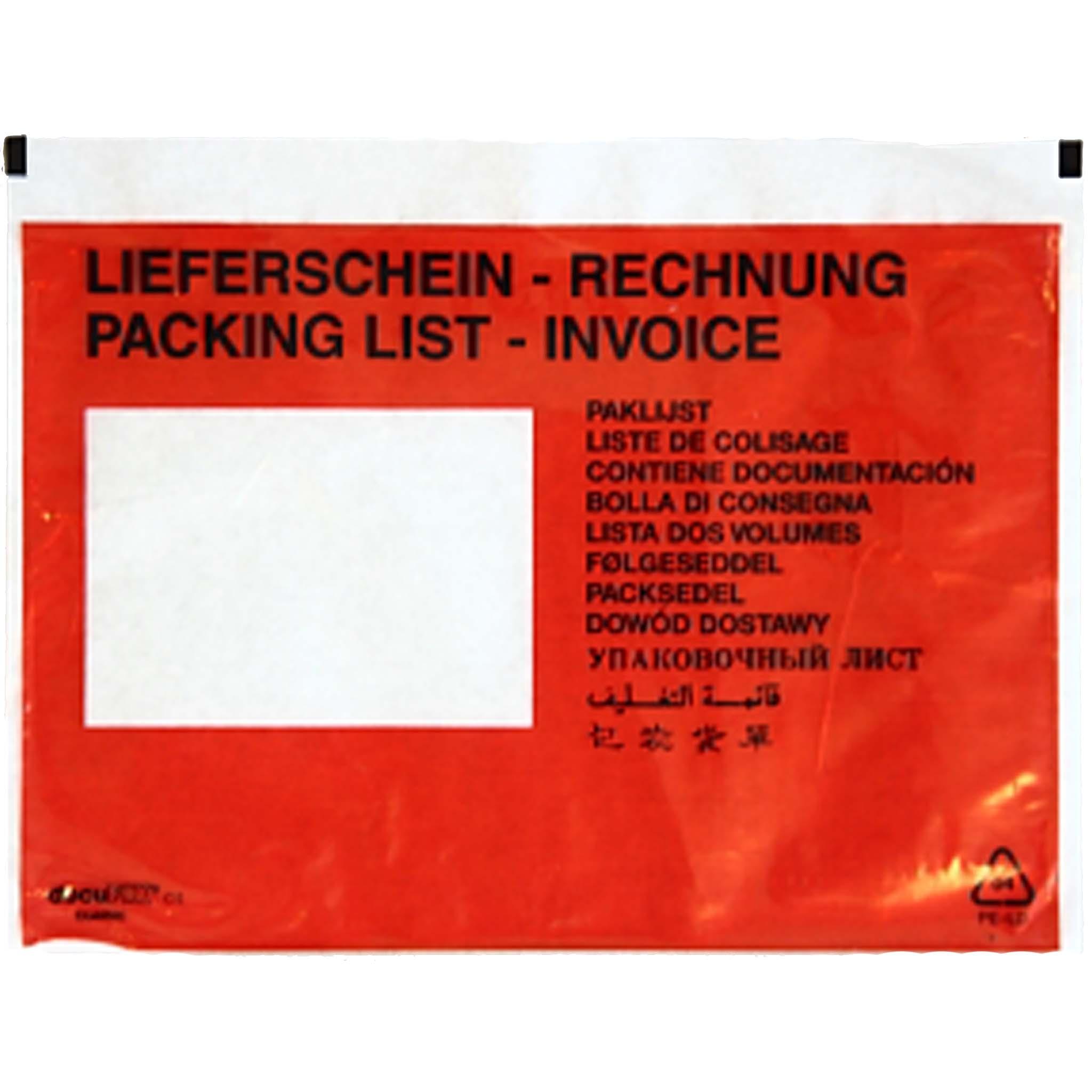 Begleitpapiertasche Format DIN C - 6